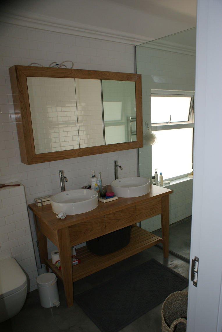 Oak Pedestal and sliding door Cabinet
