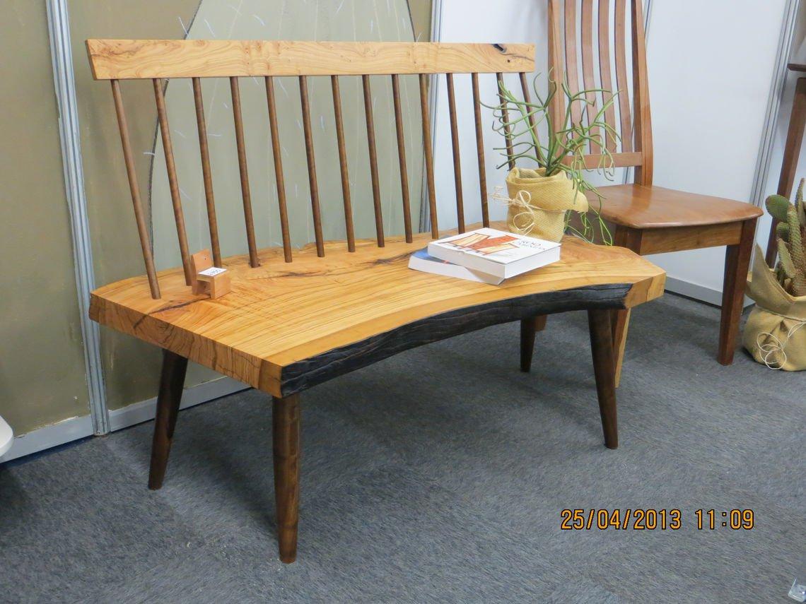 Wild Olive & Imbuia Bench